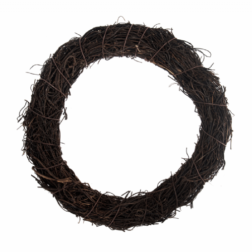 Wreath Base Rattan Dark 20cm 7.9in